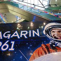 Giant Lego Gagarin portrait