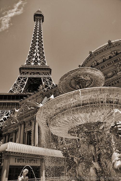 Eiffel Tower & Fountain, Paris Hotel