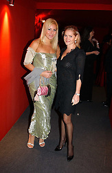 """Left to right, MISS BEVERLEY BLOOM and CHRISTINA KNUDSEN at the 10th annual British Red Cross London Ball.  This years ball theme was Indian based - """"Yaksha - Yakshi: Doorkeepers to the Divine"""" and was held at The Room, Upper Ground, London on 1st December 2004.  Proceeds from the ball will aid vital humanitarian work, including HIV/AIDS projects that the Red Cross supports in the UK and overseas.<br /><br />NON EXCLUSIVE - WORLD RIGHTS"""