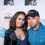 NLD/Amsterdam/20171106 - MTV Pre party 2017, DJ Nafthaly Ramona en ...........