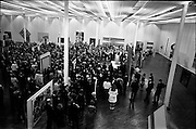 """13/11/1967<br /> 11/13/1967<br /> 13 November 1967<br /> ROSC 1967 """"The Poetry of Vision"""" Exhibition  at the R.D.S., Dublin. Image shows a general view of the official opening - The Celtic Art section was to have been in the centre of this main exhibition but was moved to the National Museum."""