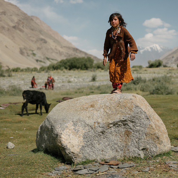 Girl named Zubaida. The traditional life of the Wakhi people, in the Wakhan corridor, amongst the Pamir mountains.