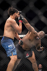 September 16, 2017 - Pittsburgh, Pennsylvania, USA - September 16, 2017: Justin Ledet defeats Zu Anyanwu by split decision during UFC Fight Night at PPG Paints Arena in Pittsburgh, Pennsylvania. (Credit Image: © Scott Taetsch via ZUMA Wire)