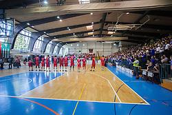 Players of Tajfun before basketball match between KK Rogaska and KK Tajfun in 3rd Round of Final of Slovenian National Basketball Championship 2014/15, on May 26, 2015 in Sportna dvorana, Rogaska Slatina, Slovenia. Photo by Ziga Zupan / Sportida