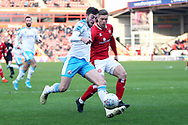 Ashley Nadesan crosses the ball during the EFL Sky Bet League 2 match between Walsall and Crawley Town at the Banks's Stadium, Walsall, England on 18 January 2020.