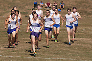 Central Valley, New York - Monroe-Woodbury's Jack Jibb takes the lead at the start of the varsity boys race the first annual Crusader Classic invitational cross country meet on Sept. 27, 2014. Jibb finished first with a time of 16 minutes, 24.71 seconds on the 3.1-mile course.