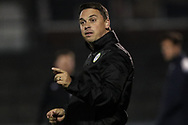 Forest Green Rovers academy manager Scott Bartlett during the The FA Youth Cup match between Bristol Rovers and Forest Green Rovers at the Memorial Stadium, Bristol, England on 2 November 2017. Photo by Shane Healey.