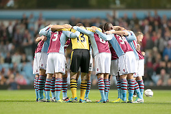 Aston Villa huddle  - Photo mandatory by-line: Nigel Pitts-Drake/JMP - Tel: Mobile: 07966 386802 24/09/2013 - SPORT - FOOTBALL -  Villa Park - Birmingham - Aston Villa v Tottenham Hotspur - Round 3 - Capital One Cup