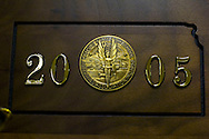 11/7/07 Smith Center, KS.Trophy case at Smith Center High School..(Chris Machian/ Prairie Pixel Group)
