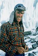 New Zealander Edmund Hillary during 1953 British Everest Expedition, base camp,