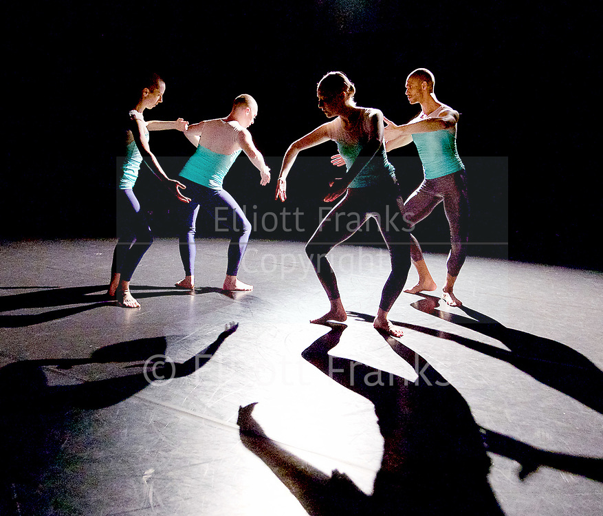 Julie Cunningham and Company<br /> Double Bill<br /> at The Pitt, Barbican Theatre, London, Great Britain <br /> 8th March 2017 <br /> <br /> Julie Cunningham <br /> Harry Alexander<br /> Alexander Williams<br /> Hannah Burfield<br />  <br /> Award-winning dancer and nominee of the 2016 Critics' Circle National Dance Award for Emerging Artist, Julie Cunningham launches her newly formed company, and makes her Barbican choreographic debut with an expressive double bill about gender and identity.<br />  <br /> Piece 1: Returning <br /> <br /> <br /> <br /> <br /> Photograph by Elliott Franks <br /> Image licensed to Elliott Franks Photography Services