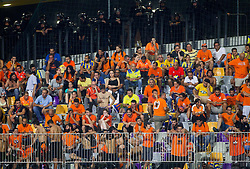 Supporters of Apoel disappointed after the football match between NK Maribor and APOEL FC, (Cyprus) in Third qualifying round, Second leg of UEFA Champions League 2014, on August 6, 2013 in Stadium Ljudski vrt, Maribor, Slovenia. (Photo by Vid Ponikvar / Sportida.com)