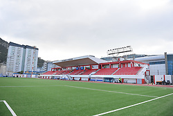 General view of Victoria Stadium prior to the UEFA Euro 2020 Qualifying, Group D match at the Victoria Stadium, Gibraltar.