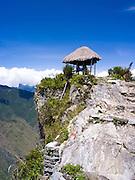 At the top of Montaña Machu Picchu, near Aguas Calientes, Peru.