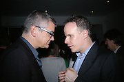 JAY JOPLING AND  Hans Obrist Ulrich, Party hosted by Sir Richard and Lady Ruth Rogers at their house in Chelsea  to celebrate the extraordinary achievement of completing this year's Pavilion  by Olafur Eliasson and Kjetil Thorsenat at the Serpentine.  13 September 2007. -DO NOT ARCHIVE-© Copyright Photograph by Dafydd Jones. 248 Clapham Rd. London SW9 0PZ. Tel 0207 820 0771. www.dafjones.com.