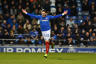 Portsmouth Midfielder, Ronan Curtis (11) during the EFL Sky Bet League 1 match between Portsmouth and Charlton Athletic at Fratton Park, Portsmouth, England on 11 December 2018.