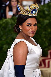 Mindy Kaling attending the Metropolitan Museum of Art Costume Institute Benefit Gala 2018 in New York, USA