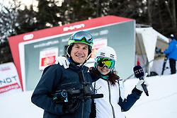 Blaz Oman and Ana Kobal before the Ladies' GiantSlalom at 56th Golden Fox event at Audi FIS Ski World Cup 2019/20, on February 15, 2020 in Podkoren, Kranjska Gora, Slovenia. Photo by Morgan Kristan / Sportida