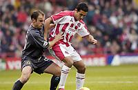 Photo Pete Downing<br />Sheffield Utd V Burnley.<br />Nationwide division one.<br /> 8/11/ 2003.<br />Jack Lester gets the first goal for Sheffield.<br /><br />Photo:Peter Downing