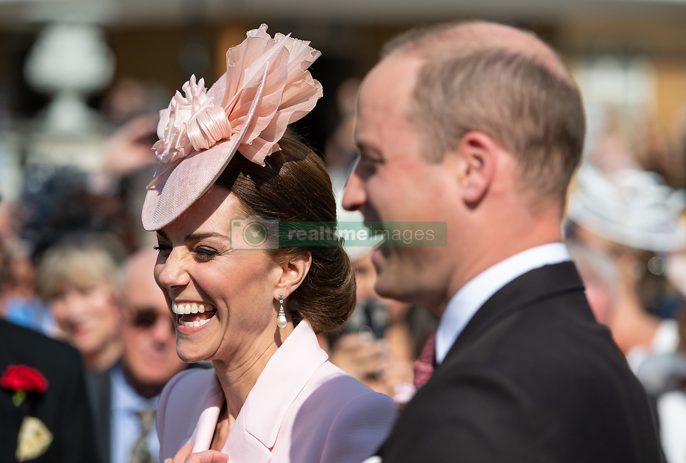 May 21, 2019 - London, London, United Kingdom - Image licensed to i-Images Picture Agency. 21/05/2019. London, United Kingdom. The Duke and Duchess of Cambridge  attending a Royal Garden Party at Buckingham Palace in London. (Credit Image: © Pool/i-Images via ZUMA Press)