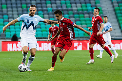 Jasmin Kurtic of Slovenia during the UEFA Nations League C Group 3 match between Slovenia and Moldova at Stadion Stozice, on September 6th, 2020. Photo by Grega Valancic / Sportida