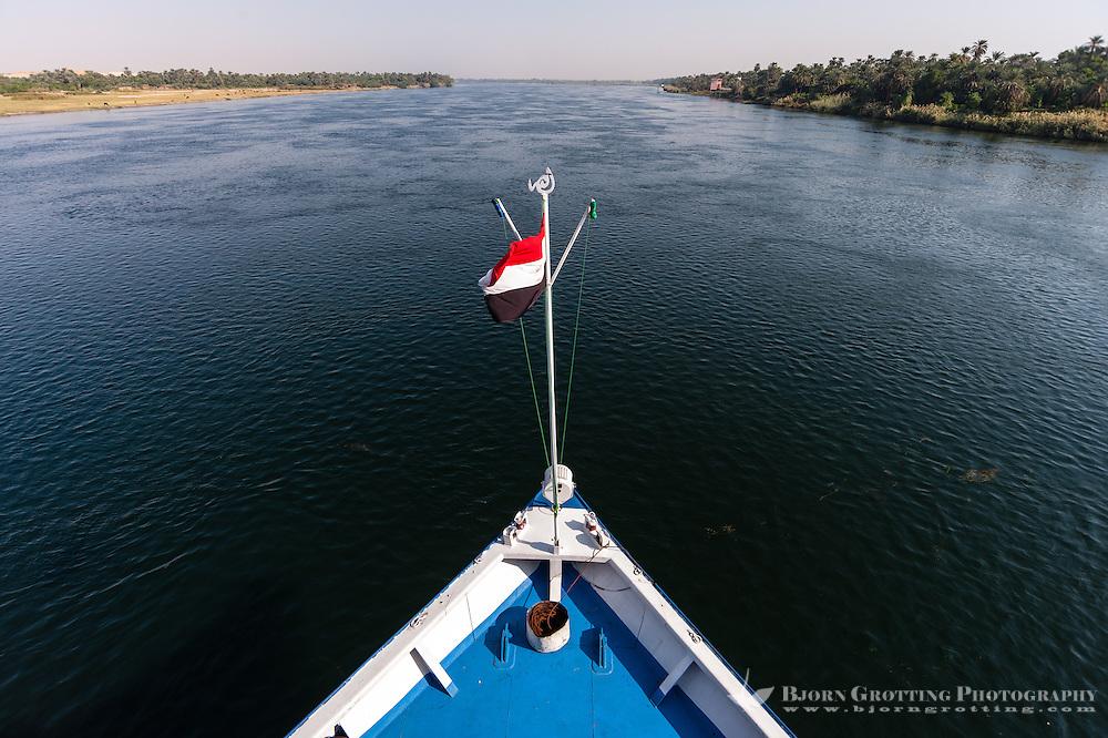 Egypt. Cruising the Nile from Kom Ombo to Luxor.