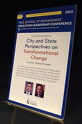 Yale SOM Education Leadership Conference. Friday Morning Keynote Speakers, Providence, RI Mayor Angel Taveras and Louisiana State Superintendent John White. 5 April 2013.
