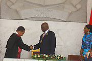 President José Eduardo dos Santos who has been inaugurated as the country's head of state for another term following a general election victory. In Luanda The President  thanked the people´s confidence for leading him the country's destination. José Eduardo dos Santos also reminded that over the last five years the Angolan economy grew up a lot, due to the effective measures of the Angolan Executive and he hopes that throughout the new mandate he can improve even more the stability of the economy.