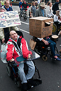 Hardest Hit demonstration  against government cuts to services to people with disabilities. 11th May 2011