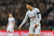 Tottenham Hotspur forward Son Heung-Min during the Champions League match between Tottenham Hotspur and Juventus FC at Wembley Stadium, London, England on 7 March 2018. Picture by Toyin Oshodi.
