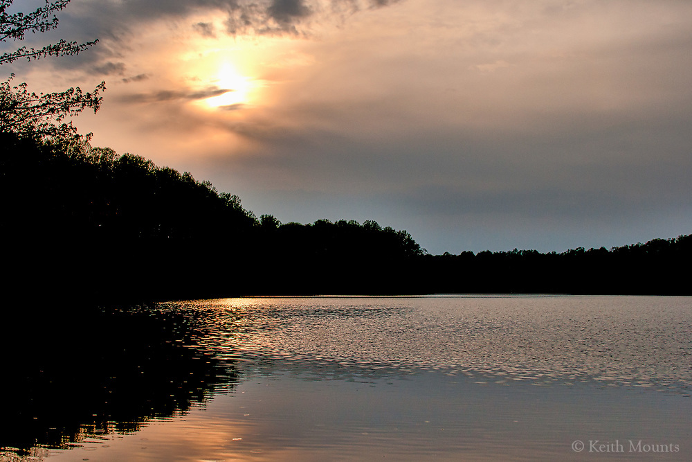 Soft light calms an evening by the lake. Be gentle with yourself. Softness is strength in the calm heart.