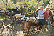 Mexican cowboys rest after arriving to camp at a village stop along the road during the annual Cabalgata de Cristo Rey pilgrimage January 4, 2017 in La Sauceda, Guanajuato, Mexico. Thousands of Mexican cowboys and horse take part in the three-day ride to the mountaintop shrine of Cristo Rey stopping along the way at shrines and churches.