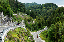 Riders near Idrija during 3rd Stage of 26th Tour of Slovenia 2019 cycling race between Zalec and Idrija (169,8 km), on June 21, 2019 in Slovenia. Photo by Vid Ponikvar / Sportida