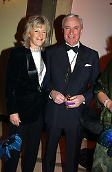MR & MRS RICHARD HAMBRO at 'A Rout' an evening of late evening party, essentially of revellers in aid of the Great Ormond Street Hospital Children's Charity and held at Claridge's, Brook Street, London W1 on 25th January 2005.<br /><br />NON EXCLUSIVE - WORLD RIGHTS