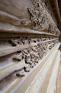 Wooden carved door piece,  Chua Thay, Vietnam, Southeast Asia
