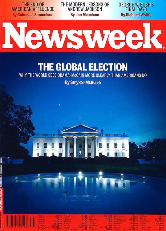 Newsweek cover of White House.