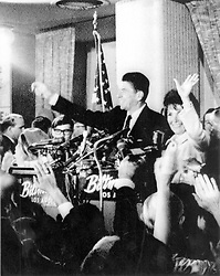 Ronald and Nancy Reagan after being elected governor of California on 9th November 1966. EXPA Pictures © 2016, PhotoCredit: EXPA/ Photoshot/ UPPA/Photoshot<br /> <br /> *****ATTENTION - for AUT, SLO, CRO, SRB, BIH, MAZ, SUI only*****