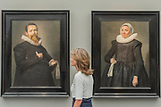 Works by Frans Hals in the Johnny Van Haeften Gallery - Frieze Masters London 2016, Regents Park, London. It covers several thousand years of art from 130 of the world's leading modern and historical galleries. The vetted artworks spanning antiquities, Asian art, ethnographic art, illuminated manuscripts, Medieval, modern and post-war, Old Masters and 19th-century, photography, sculpture and Wunderkammer.  The fair is open to the public 06-09 October.