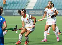 BRUXELLES (Belgium) - Julia PONS (SPA)  and Xantal GINE (SPA)   during Hockey World League women (semi final competition)  SPAIN v MALAYSIA .  COPYRIGHT KOEN SUYK