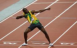 File photo dated 09-08-2012 of Jamacia's Usain Bolt celebrates winning the men's 200m Final at the Olympic Stadium, London.