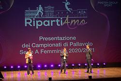 PRESENTAZIONE CAMPIONATO PALLAVOLO FEMMINILE SERIE A 2020-2021 A BERGAMO<br /> BERGAMO 15-09-2020<br /> FOTO FILIPPO RUBIN