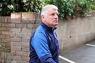 AFC Wimbledon temporary manager coach Glyn Hodges arriving during the EFL Sky Bet League 1 match between Southend United and AFC Wimbledon at Roots Hall, Southend, England on 12 October 2019.