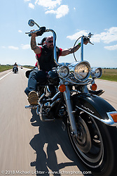 Brian Buttera on the Cycle Source Ride during the 78th annual Sturgis Motorcycle Rally. Sturgis, SD. USA. Wednesday August 8, 2018. Photography ©2018 Michael Lichter.