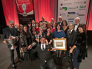 Onuku Māori Lands Trust were named winners at the awards dinner - Ahuwhenua Trophy BNZ Maori Excellence in Farming Award, 25 May 2018. Photo by John Cowpland / alphapix<br /> <br /> CONDITIONS of USE:<br /> <br /> FREE for editorial use in direct relation the Ahuwhenua Trophy competition. ie. not to be used for general stories about the finalist or farming.<br /> <br /> NO archiving of images. NO commercial use. <br /> Please contact John@alphapix.co.nz if you have any questions