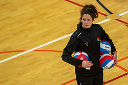 02-02-2019 NED: Regio Zwolle Volleybal - Sliedrecht Sport, Zwolle<br /> Round 16 of Eredivisie volleyball - Sliedrecht win the match 3-2 / Annelien Alons #14 of Zwolle