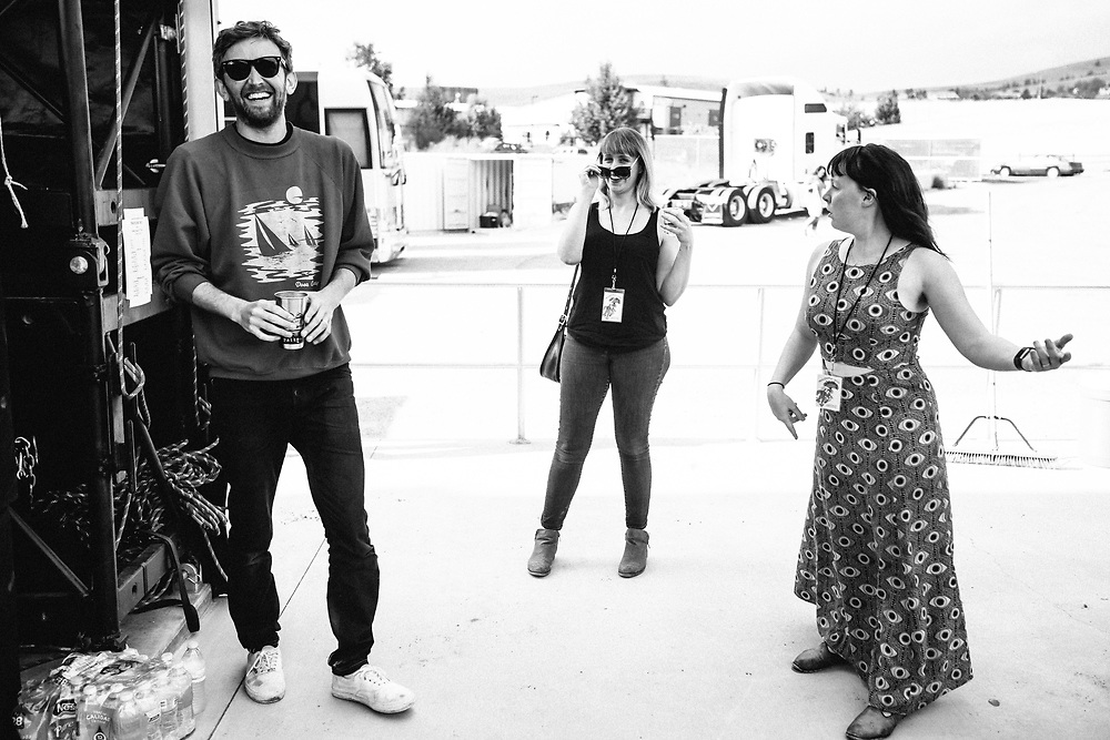 Sylvan Esso backstage at the 2017 Travelers' Rest Festival in Missoula, MT. Photo by Jason Quigley