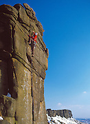 Left Unconquerable, E1 5b, Stanage