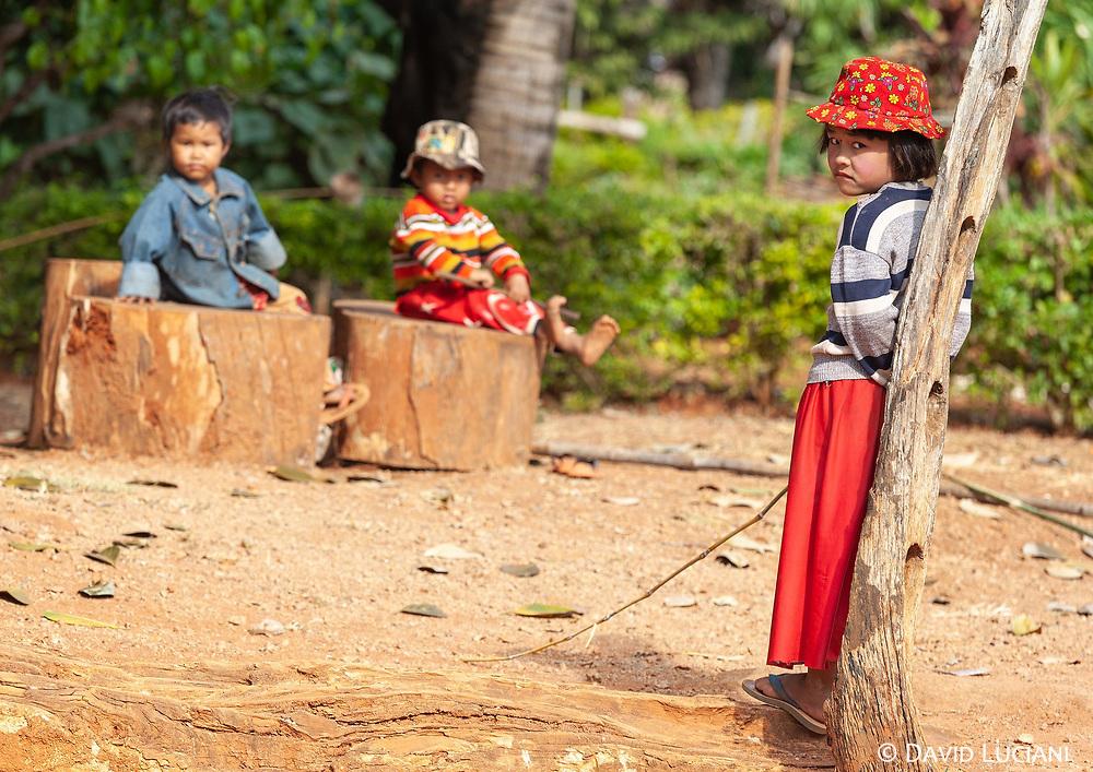 Children, in a small village near the famous Kakku Pagodas