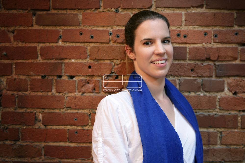 25th April 2009. Los Angeles, California. Yoga instructor Alexandra Aitken, daughter of  British government minister Jonathan Aitken, who was convicted of perjury in 1999.© JOHN CHAPPLE / REBEL IMAGES.john@chapple.biz    (001) 310 570 9100