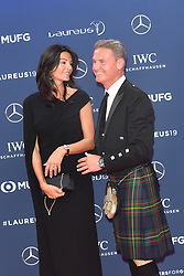 February 18, 2019 - Monaco, Monaco - David Coulthard and Karen Miniern arriving at the 2019 Laureus World Sports Awards on February 18, 2019 in Monaco  (Credit Image: © Famous/Ace Pictures via ZUMA Press)